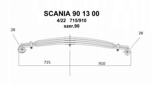 Resor Scania 90mm